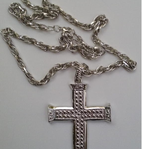 Cross Pendant Necklace Silver