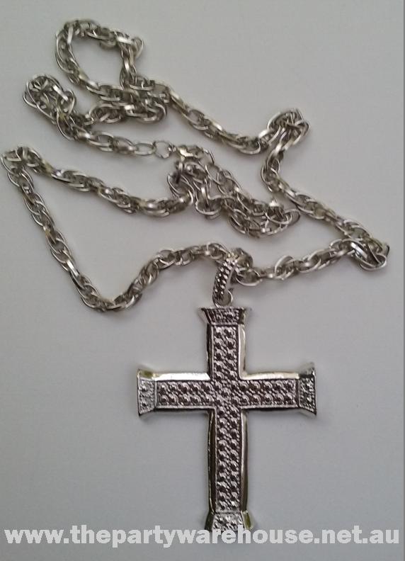 Cross Pendant Necklace Silver