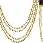 Metallic Bead Necklaces Gold