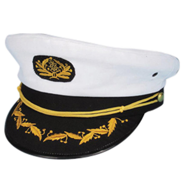White Captain Hat
