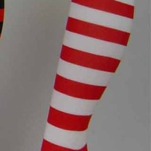 Wally Red & White Striped Socks