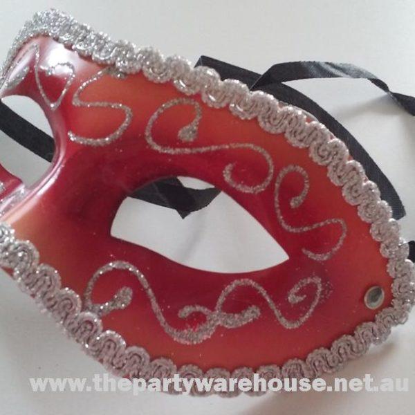 Masquerade Mask - Burgundy / Red