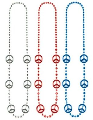Metallic Peace Beads