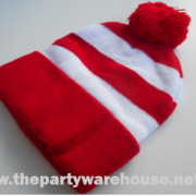 Wally Red and White Striped Beanie