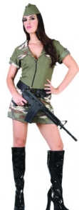 Adult Costume - Army Girl
