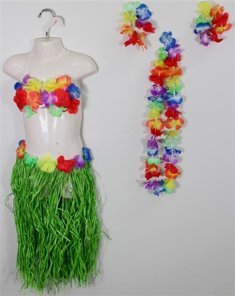 Girls Hawaiian Skirt Set