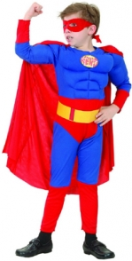 Child Costume - Super Hero with Muscles