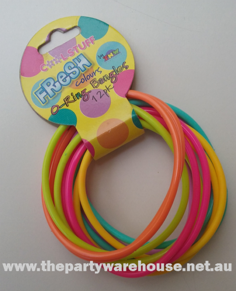 Coloured O Ring Bangles