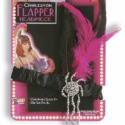 Flapper Headpiece Black and Pink