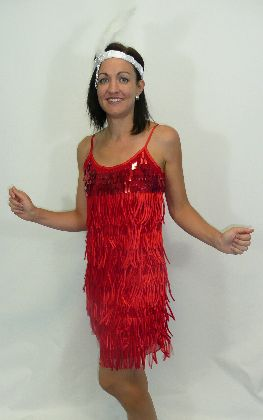 1920's Flapper Dress Red