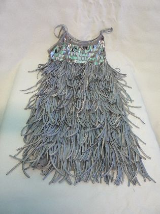 1920's Flapper Dress Silver