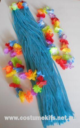 Grass Skirt 80cm Kit Blue