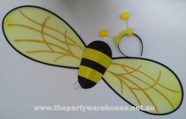 Headband & Wing Set - Bumble Bee