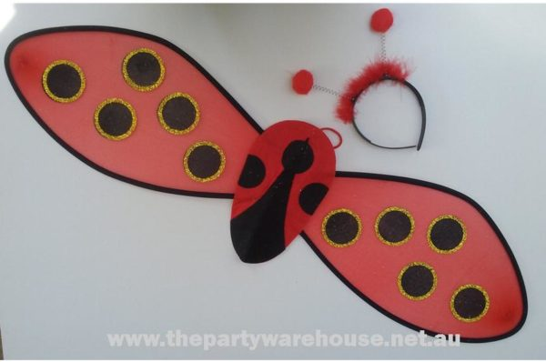 Headband & Wing Set - Lady Bug