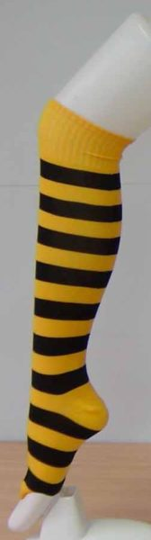 Black and Yellow Striped Socks