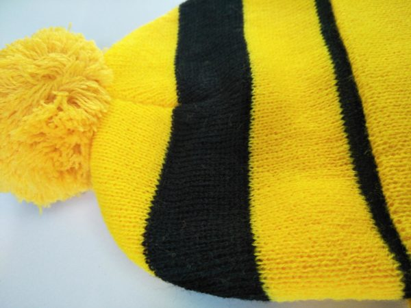 Beanie - Black and Yellow Close Up