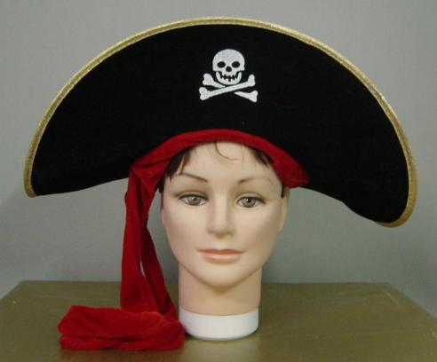 Pirate Hat with Red Ribbon
