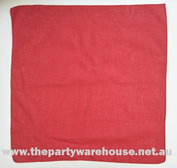 Bandana Plain Red